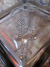 Art Deco Rhinestone Choker Necklace Collar Petite Bib Design Cocktail Sparkle - $54.45