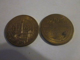 2 1962 Seattle WA America's Space Age World's Fair $1 Dollar InTrade Tok... - $9.99