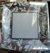 "Silver Elegant Scroll 8 ct Square Dinner Plates - Large 10 1/4"" Anniversary, etc - $9.74"