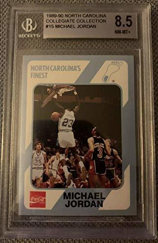Primary image for Michael Jordan 1989 North Carolina #15 Collegiate Collection BGS 8.5 NM-MT+
