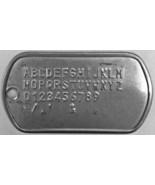 Customized Shiny Military Dog Tags Set Personalized Metal Army ID Custom... - $5.79