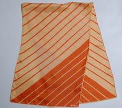 Vera Neumann Scarf Orange Diagonal Stripe Rectangle Vintage Ladybug Japan - $19.79