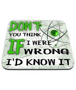 sheldon cooper don't you think if i were wrong big bang theory tv show m... - $18.99