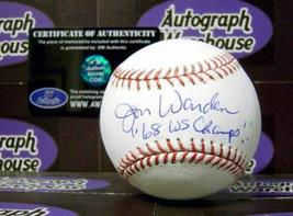 "Jon Warden autographed Baseball inscribed ""68 WS Champs"" - $59.00"