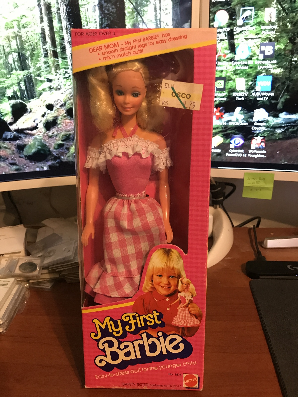 Primary image for 1982 Mattel My First Barbie Doll #1875 NIB