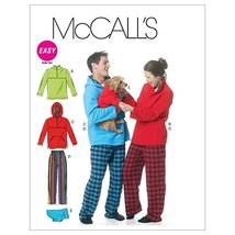 McCall's Patterns M6252 Misses'/Men's/Teen Boys' Tops, Pants And Dog Blanket, Si - $15.68