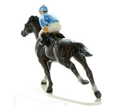 Hagen Renaker Specialty Horse with Jockey Racing Ceramic Figurine image 4