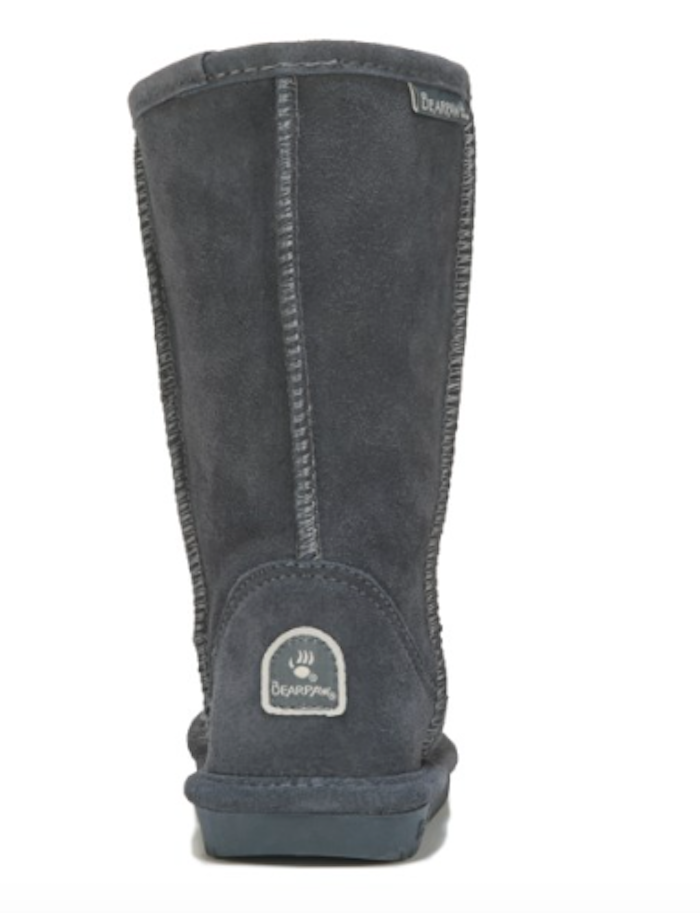 Kids Bearpaw Emma Tall Charcoal Pull On Winter Boots [618Y]