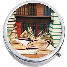Open Books Library Medicine Vitamin Compact Pill Box - $9.78
