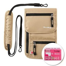 hiwego Travel Neck Pouch Hidden Passport Holder Wallet RFID Blocking/Nec... - $21.85