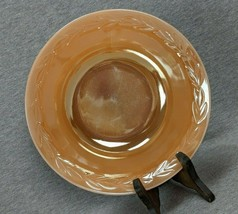 Anchor Hocking Fire King Peach Luster Laurel 7.5625 Soup Bowl Plate - $15.00