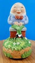 "Schmid Humpty Dumpty Music Box Ceramic Mother Goose Series Musical 6.5"" - $18.56"