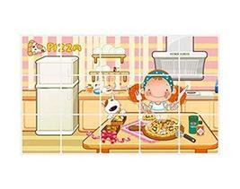 Panda Superstore 3 Pcs Kitchen Oil-Proof Anti-smoke Stickers Cabinets Waterproof