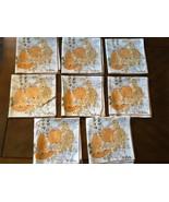 "VTG set of 8 Vera Neumann Napkins Autumn Fall Leaves Fruits Orange 16"" x... - $59.40"