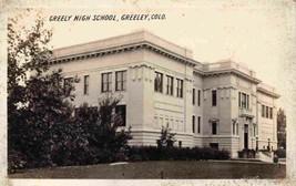 Greeley High School Greeley Colorado 1910s Real Photo RPPC postcard - $12.38