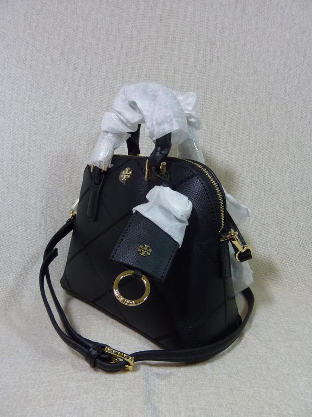 NWT Tory Burch Black Saffiano Mini Robinson Stitched Dome Cross Body Bag  - $425 image 2