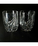2 (Two) LENOX DEBUT Lead Crystal Double Old Fashioned Glasses DISCONTINUED - $75.04