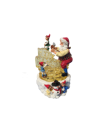 """Santa Musical Lighted Ice Carving 10"""" Plays 8 Songs In Original Box #207... - $21.78"""