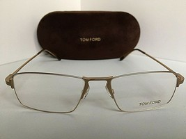 New Tom Ford TF 5202 TF5202 029 Matte Gold 55mm  Eyeglasses Frame Italy - $199.99