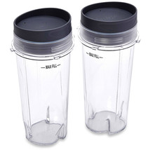 Ninja 16 oz Single Serve Cups with Lids for Ninja BL660, 2-Pack - $37.96