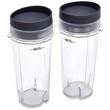Ninja 16 oz Single Serve Cups with Lids for Ninja BL660, 2-Pack - $37.96