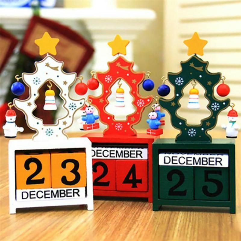 Christmas Tree Wooden Calendar DIY Craft  Xmas Decoration Merry Christmas Decor