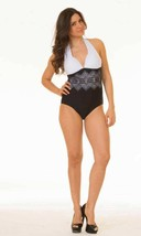 BRAND NEW COCO LIMON WOMEN'S CLASSIC BATHING SUIT ONE PIECE BLACK/WHITE SIZE 14