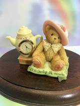 Cherished Teddies Clock I'll Be Counting The Minutes Til We Meet Again  2001 NIB - $48.46
