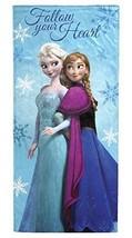 "Disney Frozen Follow Your Heart 100% Cotton Beach Towel 28"" X 58"" - $16.82"
