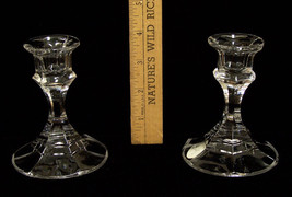 Two Crystal candle holders 24 percent lead made USA Candles - $13.85