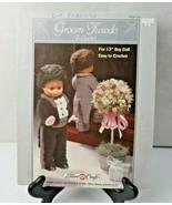 Groom Tuxedo to crochet Boy Doll easy to Fibre Craft crochet pattern - $8.00