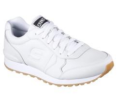 White Skechers Men's Memory Foam Sporty Sneaker Comfort Leather Lace Up ... - £38.16 GBP