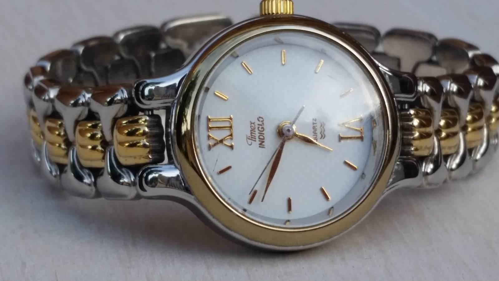 Vintage Rare Timex Indiglo Silver and Gold Tone Womens/Teen Analog Quartz Watch - $125.00