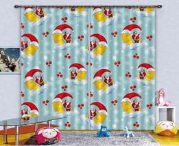 3D Santa Claus 01 Blockout Photo Curtain Print Curtains Drapes US Lemon - $177.64+