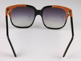 Vintage Women's Black Emmanuelle Khahn Ostrich Leather 8080 16 OS Sunglasses image 5