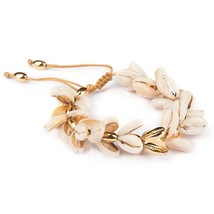 Fashion Boho Bracelet Gold Plating Nature PUKA Shell Bracelet Moda Hombr... - $19.53