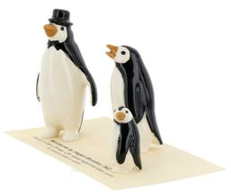 Hagen Renaker Miniature Bird Penguin Family Papa Mama Baby Ceramic Figurines image 3