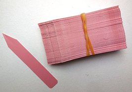 """100 Pink Plastic Plant Stakes Labels Nursery Tags Made in USA - 4"""" X 5/8"""" - $13.86"""