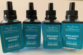 (4 ) Bath & Body Works Bergamot Waters Wallflower Bulbs 0.8 Fl Oz Each - $29.99