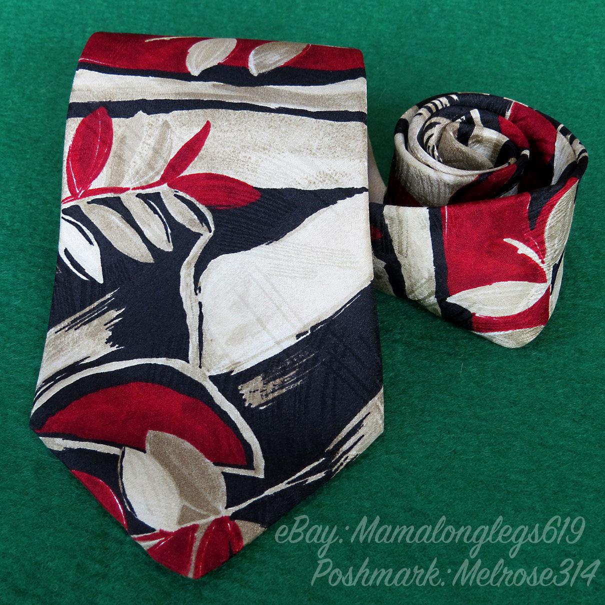 03416c8efeb3 Vintage Mens Bugatti Italian Silk Necktie and similar items. 57