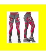 49ERS Niners Leggings - #18 Women Fan Gear - Higher Quality - NFL San Fr... - $34.99