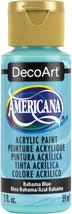 Americana Acrylic Paint 2oz-Bahama Blue - Opaque - $6.28