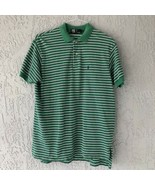 Ralph Lauren Short Sleeve Polo Shirt, Cotton, Solid Green With Stripes P... - $21.94