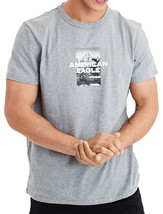 American Eagle Mens Short Sleeve Graphic Tee, Gray L, 3998-6 - $17.81