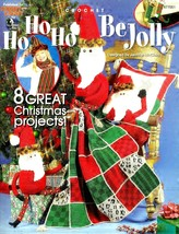 Annie's Attic Ho Ho Ho Be Jolly Crochet Patterns Christmas Holiday Quilt... - $14.67