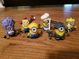 set of 6 plastic toy minion characters  - $5.95