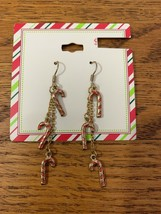 Vintage Christmas Candy Cane Earrings - $18.50