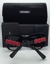 New DOLCE&GABBANA Sunglasses DG 4349 501/8G 54-20 Black-Red Hearts w/ Grey Fade