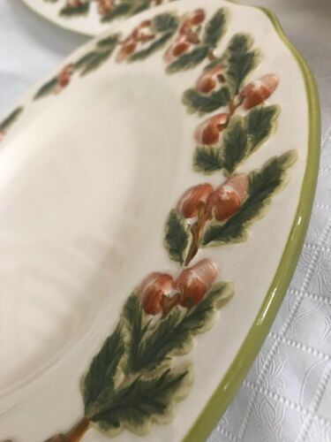 Global Design Connections Kate Williams Dinner Plates (3) Acorn Leaves Fall image 6