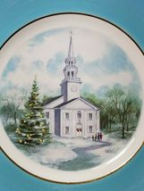 Vintage AVON Christmas Plate Series COUNTRY CHURCH 2nd Edition 1974 WEDGWOOD image 3